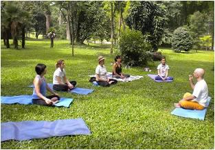 Yoga in botanical garden - Rio de Janeiro