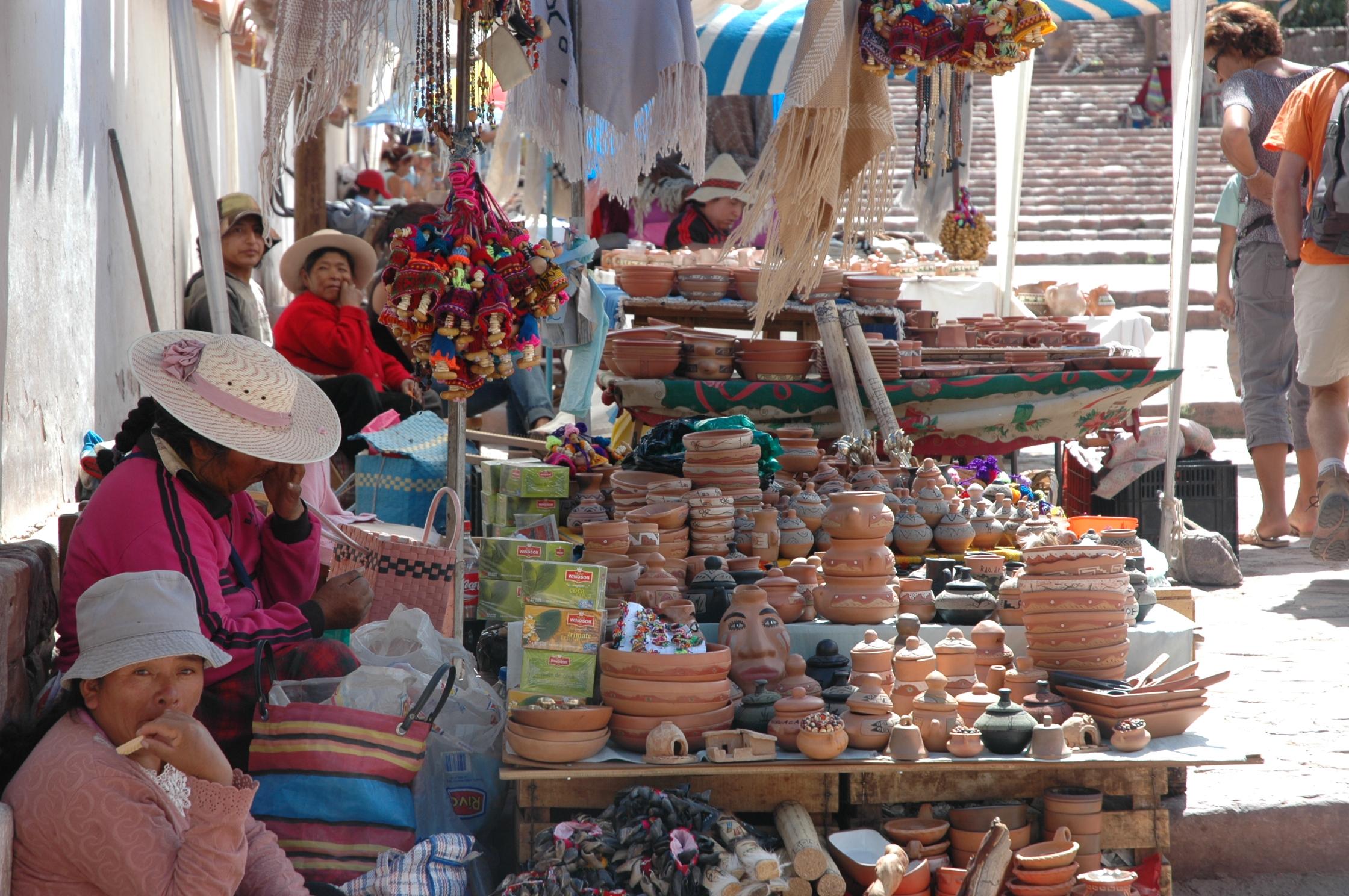 market in quebrada de humahuaca